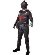 Déguisement Fortnite Chevalier noir adulte, incarnez ce personnage du jeu vidéo Fortnite