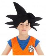 Perruque Goku noir pour enfant sous licence officielle Dragon Ball Z