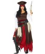 Déguisement de femme pirate grande taille, digne d'un pirate des caraïbes