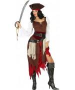 déguisement de pirate pour femme avec robe et chapeau