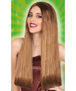 Longue perruque châtain clair adulte