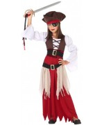 Déguisement de pirate des caraïbes pour fille de 3 à 12 ans