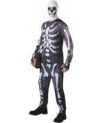 Déguisement Fortnite Skull Trooper adulte, incarnez le soldat au crâne du célèbre jeu vidéo Fortnite