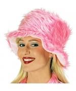 Chapeau en fourrure rose fluo idéal pour le Carnaval