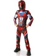 Déguisement de Power Ranger rouge luxe pour enfant de 3 à 8 ans