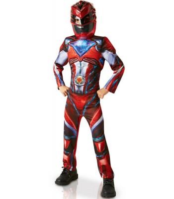 Déguisement Power Ranger rouge luxe enfant