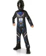 Déguisement de Power Ranger noir pour garçon de 3 à 8 ans