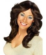 Perruque châtain pour femme, adoptez le look des 70's à l'occasion de votre soirée déguisée