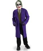 Déguisement de Joker™ pour enfant de 5 à 10 ans avec manteau, gilet avec cravate et masque