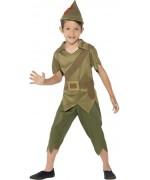 Déguisement de Peter Pan pour garçon, incarne un véritable héro de la foret