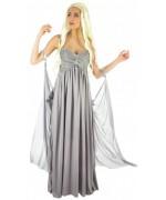 Déguisement reine des dragons avec robe et voile, plongez dans l'univers médiéval-fantastique