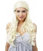 Perruque Danaria blonde, entrez dans l'univers médiéval fantastique