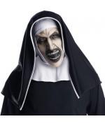 Masque intégral de La Nonne en latex avec coiffe - Masque Conjuring 2