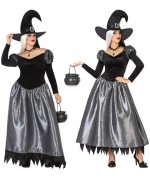 Déguisement de sorcière pour femme disponible en grande taille jusqu'au XXL