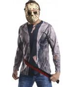 Kit de déguisement Jason Vendredi 13, masque en mousse de latex et machette