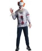 T-shirt et masque clown Ça adulte