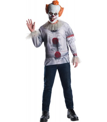 T-shirt et masque clown Ça adulte