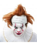 Perruque de clown tueur adulte avec haut de crâne en latex