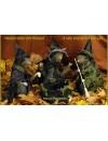 Lot de 3 rats sorciers avec chaudron - décoration Halloween