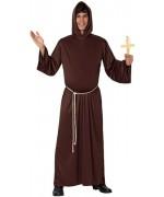 Déguisement de moine pour homme avec soutane à capuche et ceinture