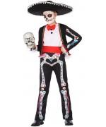 déguisement de squelette mexicain pour garçon de 3 à 12 ans - Dia de los muertos