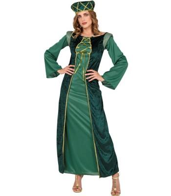 Déguisement de princesse médiévale verte
