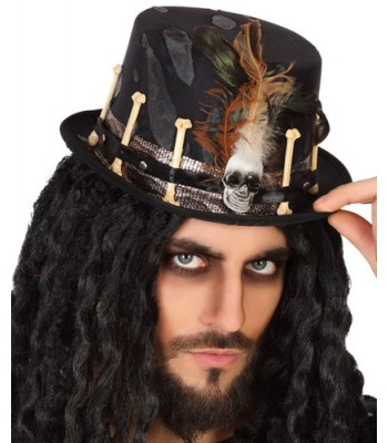 Chapeau vaudou halloween