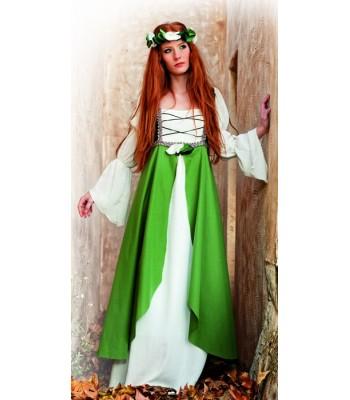 Déguisement médiéval femme vert