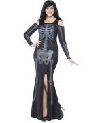 Déguisement de squelette pour femme, combinaison disponible en grandes tailles