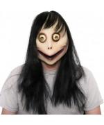Masque Momo Challenge intégral en latex, un masque idéal pour Halloween