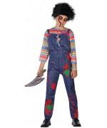 Déguisement poupée Chucky pour garçon de 3 ans à 12 ans, personnage de film d'horreur des années 80