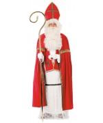 Costume Saint Nicolas pour adulte comprend la tunique, la cape, l'écharpe, la mitre et la ceinture
