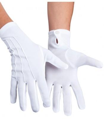 Gants blancs luxe extensible
