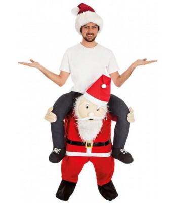 Déguisement Père Noël porte-moi adulte