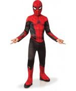 Déguisement Spiderman rouge et noir pour enfant, sous licence officielle Marvel