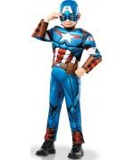 Déguisement de Captain America deluxe pour garçon de 3 à 8 ans - Marvel
