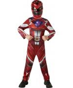Déguisement de Power Rangers rouge pour garçon de 3 ans à 8 ans avec combinaison et masque