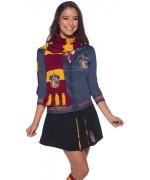 Arbore les couleurs de la maison Gryffondor même en hiver, écharpe luxe Harry Potter