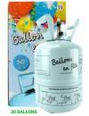 Bouteille d'hélium jetable pour gonfler 30 ballons de 23 cm de diamètre (0,25m3)