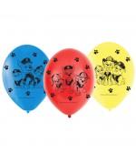 Lot de 6 ballons en latex Pat Patrouille idéal pour réaliser votre décoration d'anniversaire Pat Patrouille