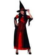 Déguisement de sorcière rouge et noire pour adulte - Halloween