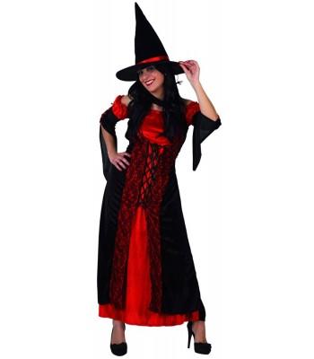 Déguisement de sorcière rouge adulte