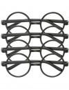 Lunettes Harry Potter, set de 4 paires de lunettes rondes sans verres