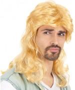 Perruque mulet blond pour homme à vous le look kitsch et ringard