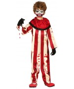 déguisement de clown tueur rouge et blanc pour garçon de 5 à 12 ans - costume Halloween