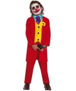 déguisement Mr Smile pour garçon de 5 à 12 ans, costume rouge idéal pour incarner le Joker
