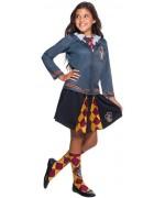 déguisement Harry Potter pour fille jupe et t-shirt aux couleur de la maison Gryffondor , idéal pour incarner Hermione