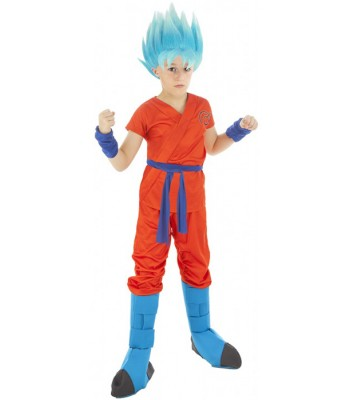 Déguisement Sangoku super saiyan bleu Dragon Ball Z