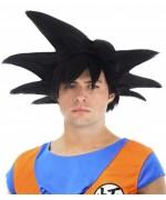Perruque Dragon Ball Z Sangoku pour adulte aux cheveux noirs idéale pour incarner ce célèbre super-héros de manga