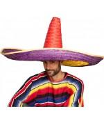 Grand sombrero mexicain multicolore d'un mètre de diamètre